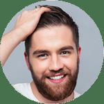 transplante ou implante capilar para homens